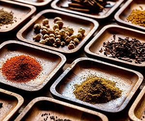 Flavorings and Spices on Ramekins